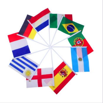 flags-Banner-Free-combination-free-shipping-Hand-waving-Flag-Optional-National-Flag-14-21-cm-Mixed