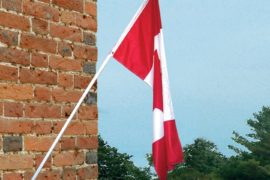 6 foot Spinning flag pole with flag